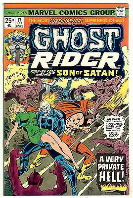 Ghost Rider #17 (Marvel 1976; vf/nm) Guide value in this grade $20.00 (£16.00)