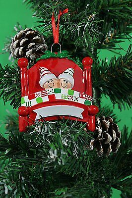 Personalised Family of 2,3,4,5 Christmas Tree Ornament - Bed Heads Decoration