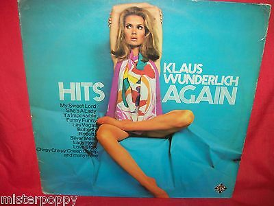 KLAUS WUNDERLICH Hits again LP 1970s GERMANY VG+ SEXY NUDE Cover