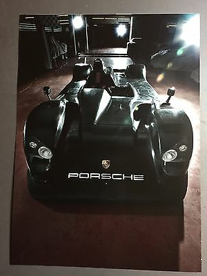 2000 Porsche LMP Spyder Concept Car Showroom Advertising Sales Poster RARE! L@@K