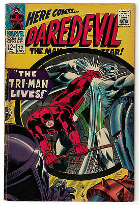 Marvel Comics DAREDEVIL Issue 22 The Tri-Man Lives! VG