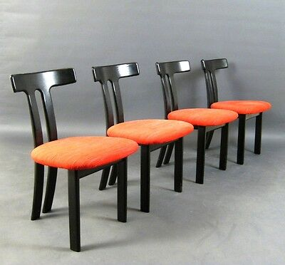 Set of 4 design chairs
