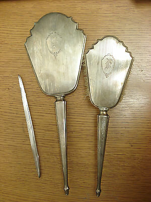 RODEN - Birks Sterling Silver Vanity Mirror Brush Comb Set NICE CLEAR MIRROR