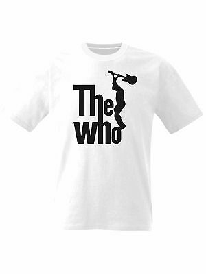 The Who Mens T Shirt Retro Mod Music Man with Guitar Printed Small to 8XL