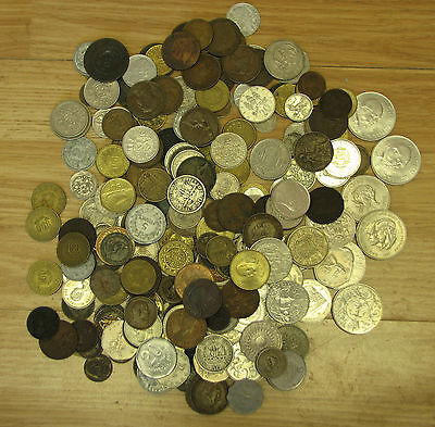 world coins foreign coins very nice lot of 221 coins  year 1800 to 1980