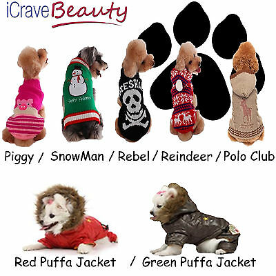 Dog Coat Dog Jumper Pet Outfit Dog Cat Costume - Dog Accessories - UK SELLER