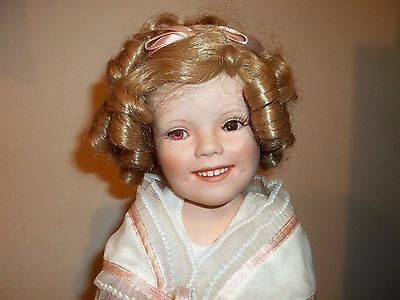 "18"" Danbury Mint Shirley Temple Flower Girl Doll Mint Condition"