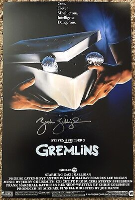 Gremlins Autographed Zack Galligan 11x18 Movie Poster with PROOF PIC