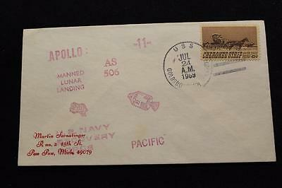 Naval Space Cover 1969 Apollo 11 Recovery Ship Uss Goldsborough (Ddg-20) (358)