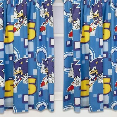 "Sonic The Hedgehog Spin 66"" Wide x 72"" Drop Curtains"