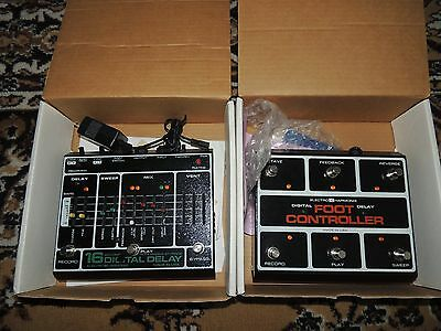 RARE ELECTRO HARMONIX 16-SECOND DELAY/LOOPER PEDAL w/FOOT CONTROLLER BOX ADAPTER