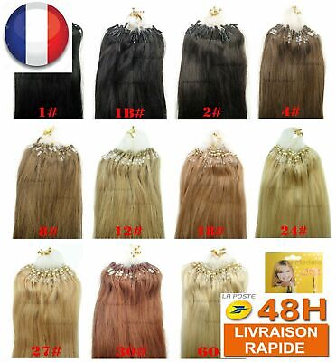 200 Extensions De Cheveux Pose A Froid Easy Loop 100% Naturels Remy 53-60Cm