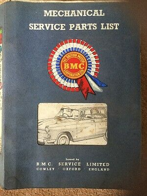 Mechanical Engine Service Parts List Catalogue Morris Austin A60 Oxford Wolseley