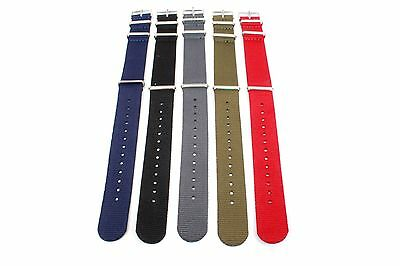 """Timex Weekender Full Size Nylon Watch Strap Band 20MM Width - 9 1/2"""" Length"""