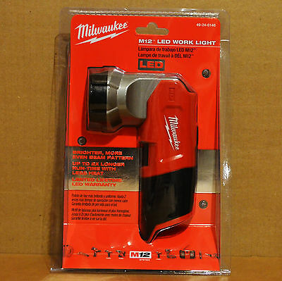 Brand New Milwaukee 49-24-0146 M12 LED 12V Li-Ion Cordless Flashlight Work Light