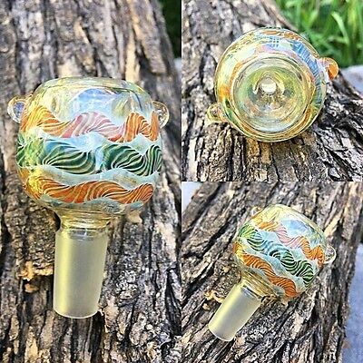 14mm Male Round Fumed Color Changing Glass Slide Bowl