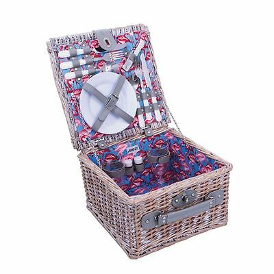 Avanti - Flamingo Half Willow Picnic Basket - 2 Person