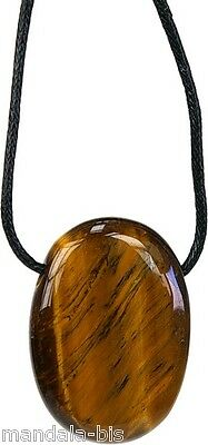 Pendant Stone Oval Pierced - Tiger's eye