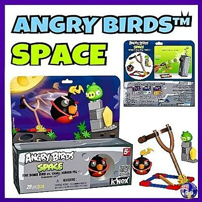 K'NEX ANGRY BIRDS Building Set SPACE - FIRE BOMB BIRD vs. SMALL MINION PIG KNEX