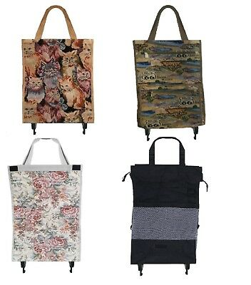 Attractive Cats Roses Or Route 66 Tapestry Shopping Cart Tote Portable Foldable