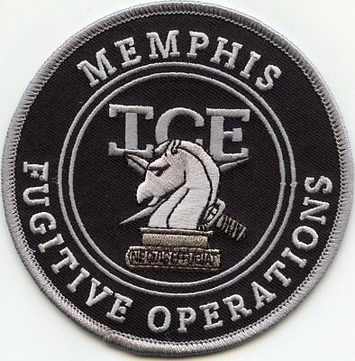 MEMPHIS TENNESSEE TN ICE FUGITIVE OPERATIONS subdued gray POLICE PATCH