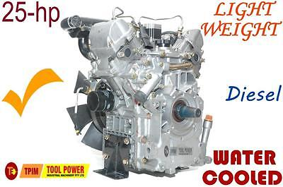 Engine Diesel TOOL POWER 25-hp Water Cooled with Radiator = Straight Shaft******