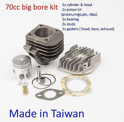 performance cylinder kit 70cc 47mm (10mm) 1E40QMB 2T scooter