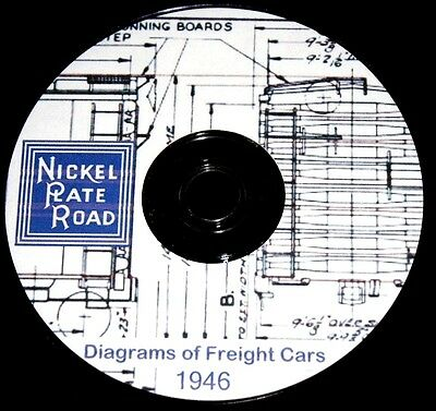 Nickel Plate Road NKP 1946 Freight Car Diagrams Pages on DVD