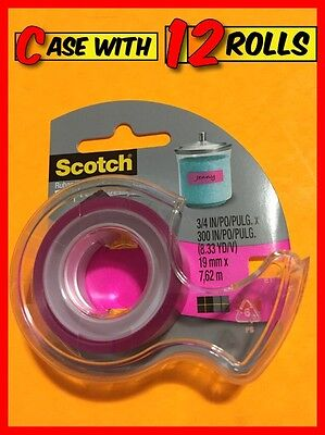 """Case of 12x SCOTCH Expressions Tape 3/4"""" x 300"""" Roll (C214-PNK-D-ESF)"""