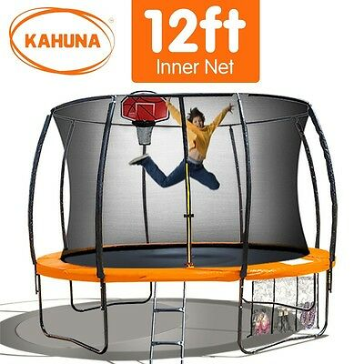 12FT Round Trampoline Safety Net Set Spring Pad Cover Mat Basketball Ladder