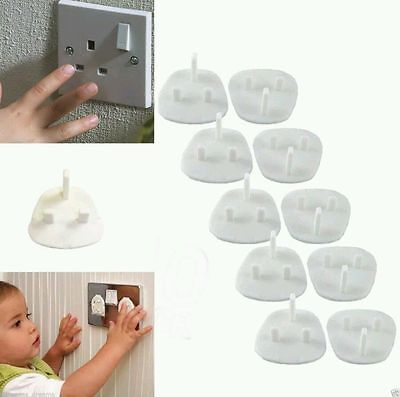 10 X Plug Socket Cover Baby Proof Child Safety Protector Guard Mains Electrical