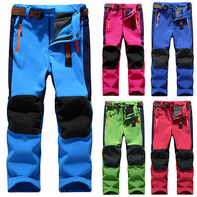 Outdoor Warm Snowboard Snow Pants Kids Ski Waterproof Hiking Climbing Trousers