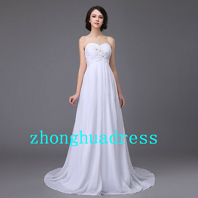 In Stock White/Ivory Wedding Dress Bridal Gown UK Size 6-8-10-12-14-16-18-20+