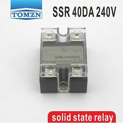 40DA SSR Control 3-32V DC output 12~240VAC single phase AC solid state relay