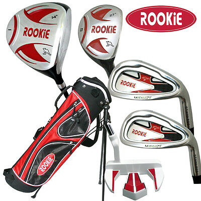 JUNIOR GOLF SET NEW 6 PCE for KIDS 10yrs plus WITH HYBRID AND MATCHING GOLF BAG
