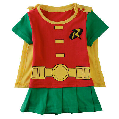 Baby Boy Robin Costume Romper Newborn Halloween Playsuit Infant Jumpsuit Outfit