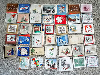 41 Christmas Cards In Postmarked Envelopes 1938-1942 2 Duplicates Dogs Scotty