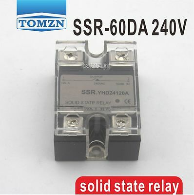 60DA SSR Control 3-32V DC output 12~240VAC single phase AC solid state relay