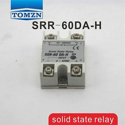 60DA-H High voltage type SSR input 3-32V DC load 90-480V AC solid state relay