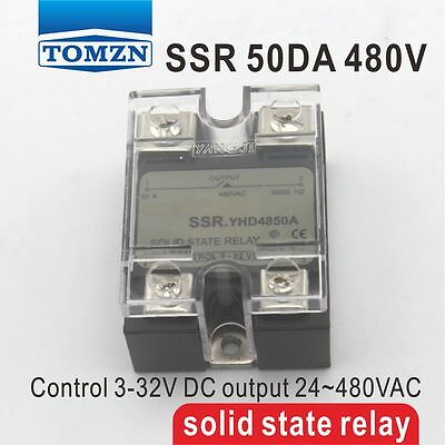 50DA SSR Control 3-32V DC output 24~480VAC single phase AC solid state relay