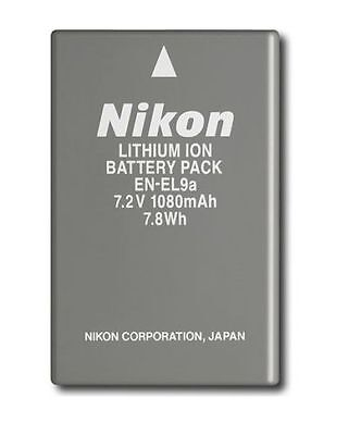 New OEM Nikon EN-EL9a Battery For Nikon DSLR D40 D40x D60 D3000 D5000 D3X