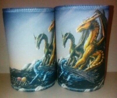 3 Dragons - 2 x  Stubby Holder Image by Emerson Ward