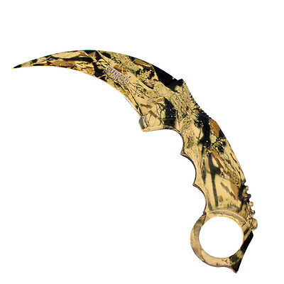 Defender Xtreme Karambit Hunting Knife Camo Color With Sheath