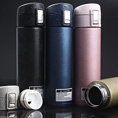 Stainless Steel Thermos flask 500ml Insulated Vacuum Bottle Travel Cup Mug Water