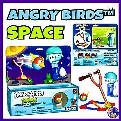 K'NEX ANGRY BIRDS Building Set SPACE- LIGHTNING BIRD vs. FROZEN HELMET PIG KNEX