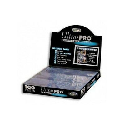 100x 9-Pocket Platinum Page Standard for Size Cards Ultra Pro 209D-100 A4 Seite