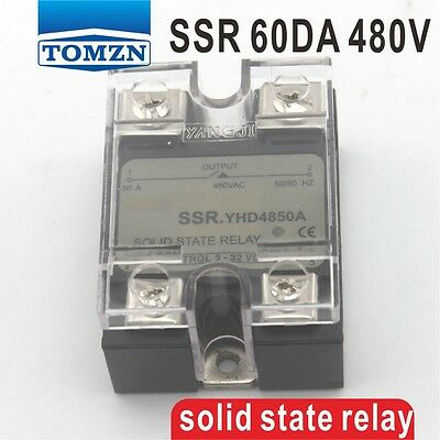 60DA SSR Control 3-32V DC output 24~480VAC single phase AC solid state relay