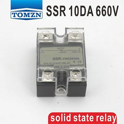 10DA SSR Control 3-32V DC output 48~660VAC single phase AC solid state relay