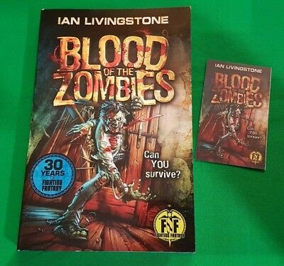 Blood of the Zombies ***BRAND NEW!!*** Fighting Fantasy Ian Livingstone Wizard
