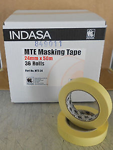 Masking Tape Indasa MTE-24 36 Rolls Low Bake